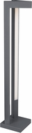 Tech Vox Contemporary Charcoal LED Outdoor Bollard Landscape Light