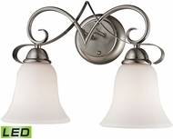 Thomas 1002BB-20-LED Brighton Brushed Nickel LED 2-Light Bathroom Lighting Fixture