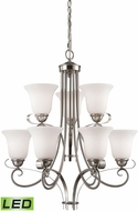 Thomas 1009CH-20-LED Brighton Brushed Nickel LED Lighting Chandelier