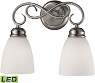 Thomas 1102BB-20-LED Chatham Brushed Nickel LED 2-Light Vanity Lighting
