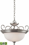 Thomas 1102CS-20-LED Chatham Brushed Nickel LED Hanging Light