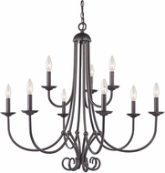 Thomas 1509CH-10 Williamsport Oil Rubbed Bronze Chandelier Light
