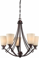 Thomas 190110704 Wright Espresso Chandelier Light