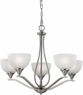 Thomas 2105CH-20 Bristol Lane Brushed Nickel Chandelier Lighting