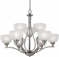 Thomas 2109CH-20 Bristol Lane Brushed Nickel Chandelier Lamp