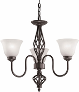Thomas 2203CH-10 Santa Fe Oil Rubbed Bronze Mini Hanging Chandelier