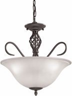 Thomas 2203CS-10 Santa Fe Oil Rubbed Bronze Drop Lighting