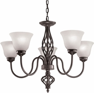 Thomas 2205CH-10 Santa Fe Oil Rubbed Bronze Chandelier Light