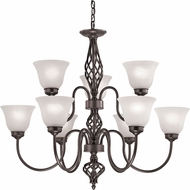 Thomas 2209CH-10 Santa Fe Oil Rubbed Bronze Chandelier Lighting