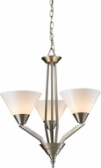 Thomas 2453CH-20 Tribecca Modern Brushed Nickel Mini Chandelier Lamp