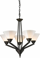 Thomas 2455CH-10 Tribecca Contemporary Oil Rubbed Bronze Chandelier Light