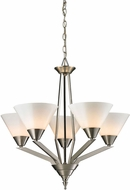 Thomas 2455CH-20 Tribecca Modern Brushed Nickel Ceiling Chandelier