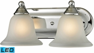 Thomas 5502BB-30-LED Shelburne Chrome LED 2-Light Bath Lighting Fixture