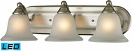 Thomas 5503BB-20-LED Shelburne Brushed Nickel LED 3-Light Bathroom Light Fixture