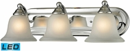 Thomas 5503BB-30-LED Shelburne Chrome LED 3-Light Bathroom Vanity Lighting