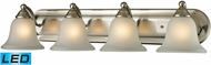 Thomas 5504BB-20-LED Shelburne Brushed Nickel LED 4-Light Bathroom Vanity Light