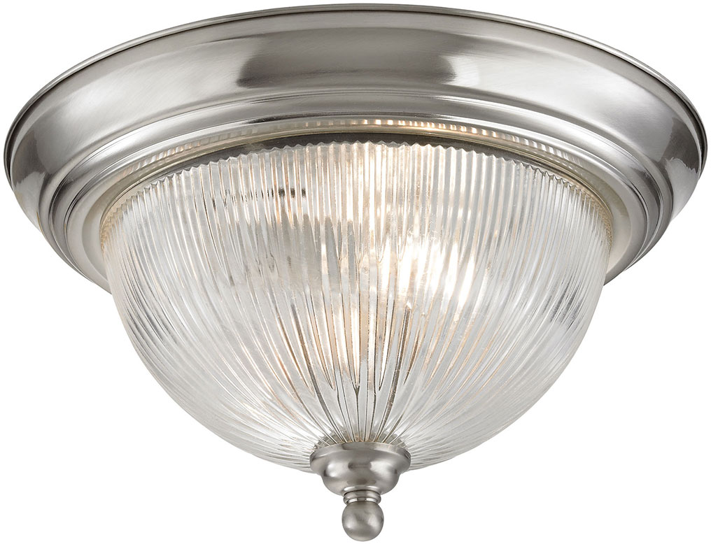 Thomas 7672FM 20 Liberty Park Brushed Nickel Flush Mount Ceiling Light  Fixture. Loading Zoom