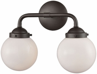 Thomas CN120211 Beckett Contemporary Oil Rubbed Bronze 2-Light Bath Sconce