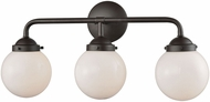 Thomas CN120311 Beckett Modern Oil Rubbed Bronze 3-Light Vanity Light Fixture