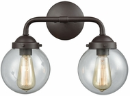 Thomas CN129211 Beckett Modern Oil Rubbed Bronze 2-Light Bathroom Vanity Light Fixture