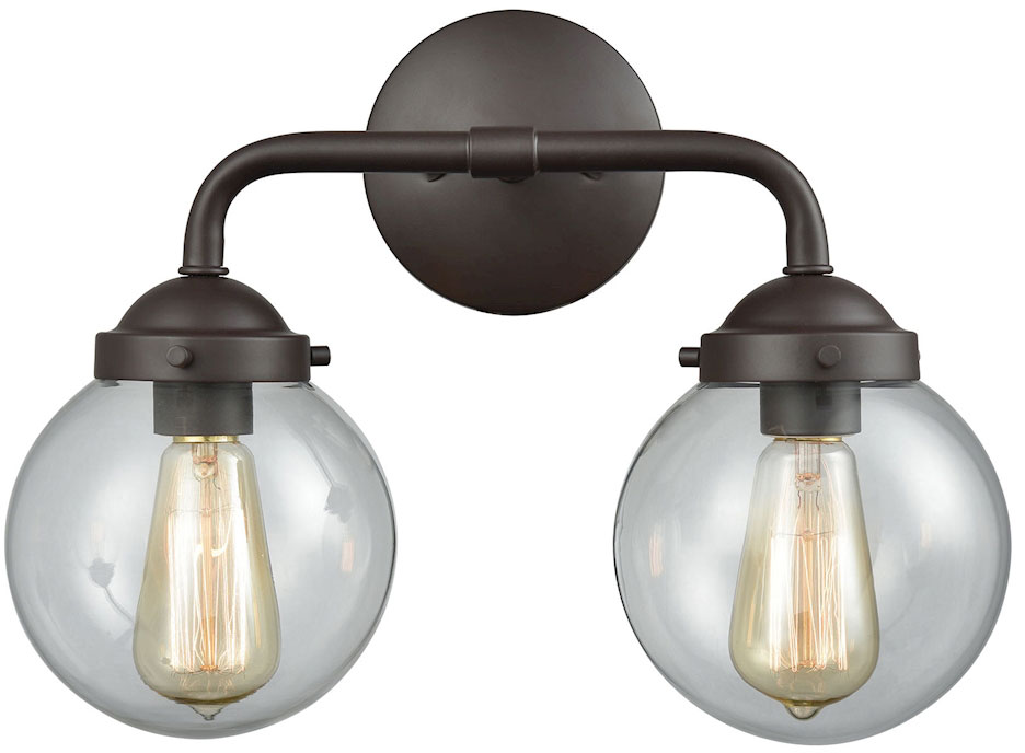 Thomas CN129211 Beckett Modern Oil Rubbed Bronze 2-Light
