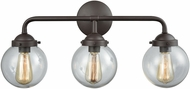 Thomas CN129311 Beckett Contemporary Oil Rubbed Bronze 3-Light Bathroom Wall Sconce