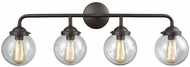 Thomas CN129411 Beckett Contemporary Oil Rubbed Bronze 4-Light Bath Wall Sconce