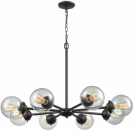 Thomas CN129821 Beckett Contemporary Oil Rubbed Bronze Chandelier Light
