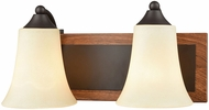 Thomas CN160211 Park City Oil Rubbed Bronze, Wood Grain 2-Light Bathroom Light Sconce