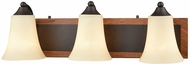 Thomas CN160311 Park City Oil Rubbed Bronze, Wood Grain 3-Light Bathroom Lighting Sconce