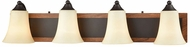 Thomas CN160411 Park City Oil Rubbed Bronze, Wood Grain 4-Light Bathroom Sconce Lighting
