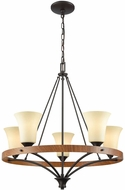 Thomas CN160521 Park City Oil Rubbed Bronze, Wood Grain Lighting Chandelier