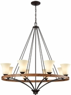 Thomas CN160821 Park City Oil Rubbed Bronze, Wood Grain Chandelier Lamp