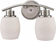 Thomas CN170212 Casual Mission Brushed Nickel 2-Light Bathroom Wall Light Fixture