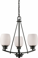 Thomas CN170321 Casual Mission Oil Rubbed Bronze Mini Chandelier Light