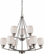 Thomas CN170922 Casual Mission Brushed Nickel Lighting Chandelier