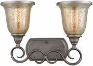 Thomas CN230217 Georgetown Weathered Zinc 2-Light Bathroom Lighting Fixture