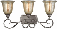 Thomas CN230317 Georgetown Weathered Zinc 3-Light Vanity Lighting