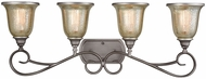 Thomas CN230417 Georgetown Weathered Zinc 4-Light Vanity Light
