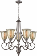 Thomas CN230527 Georgetown Weathered Zinc Chandelier Light