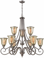 Thomas CN230927 Georgetown Weathered Zinc Ceiling Chandelier