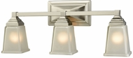 Thomas CN573311 Sinclair Brushed Nickel 3-Light Bathroom Light Fixture