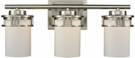Thomas CN578312 Ravendale Brushed Nickel 3-Light Bathroom Vanity Light Fixture