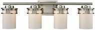 Thomas CN578412 Ravendale Brushed Nickel 4-Light Bath Wall Sconce