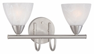 Thomas Lighting 190016117 Tia Matte Nickel Finish 15.75  Wide 2 Light Bathroom Lighting