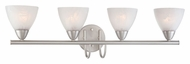 Thomas Lighting 190018117 Tia Matte Nickel Finish 30.75  Wide 4 Light Bathroom Lighting Fixture
