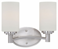 Thomas Lighting 190022217 Pittman Brushed Nickel Finish 12  Wide 2 Light Vanity Light