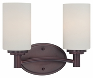 Thomas Lighting 190022719 Pittman Sienna Bronze Finish 9.75  Tall 2 Light Bath Light Fixture