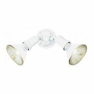 Thomas Lighting SL49468 Outdoor Essentials Matte White Finish 9.5  Wide Outdoor Secure Home Lighting