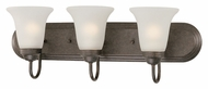 Thomas Lighting SL710323 Homestead Colonial Bronze Finish 9  Tall 3 Light Bath Lighting Fixture